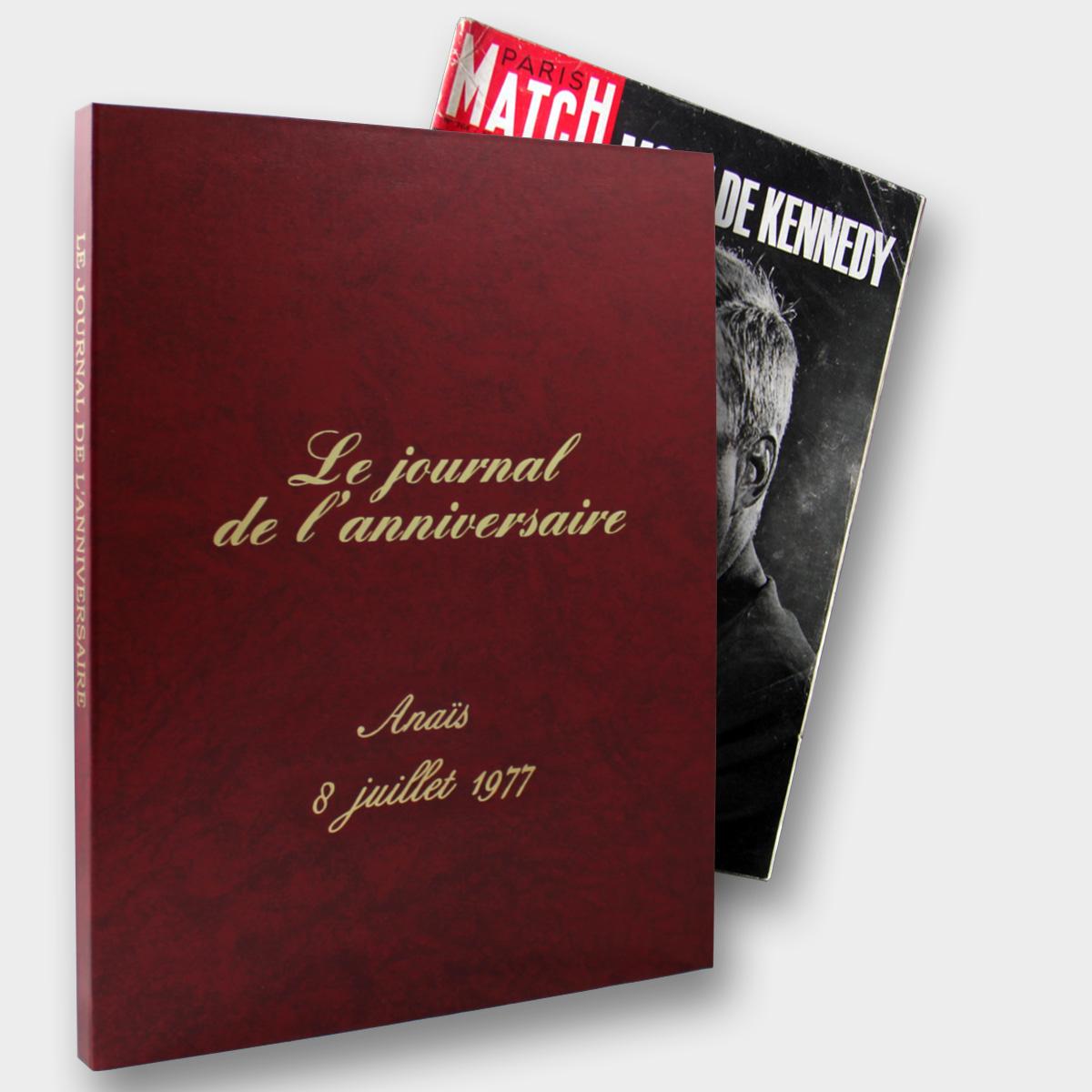 Offre journal paris match en coffret pour offrir un magazine ancien de toute date et année disponible à l'achat chez le journal anniversaire de la librairie la fontaine aux canards