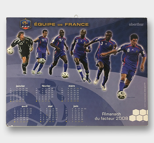 Calendrier Authentique Football