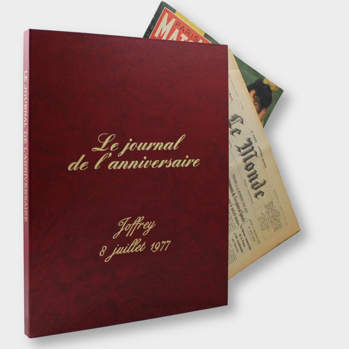 Coffret Rouge Journal Anniversaire