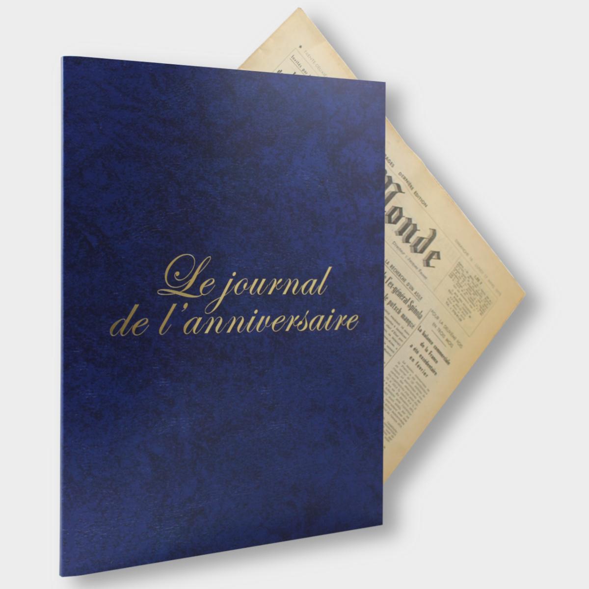 Pochette Bleue Journal Anniversaire